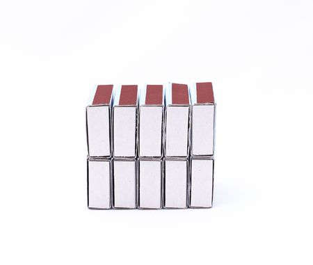 phosphorus: Card board match boxes over white background