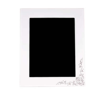 vertical digital photoframe over white background   photo