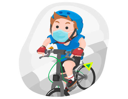 People with bicycle vector illustration Ilustrace