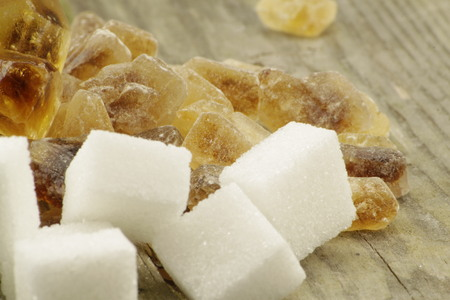 emphasized: Brown candied sugar and white sugar cubes