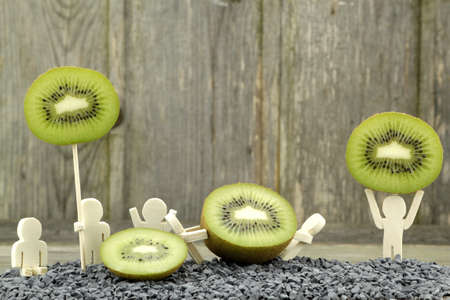 different way: Sliced kiwi presented in a completely Call Different Way