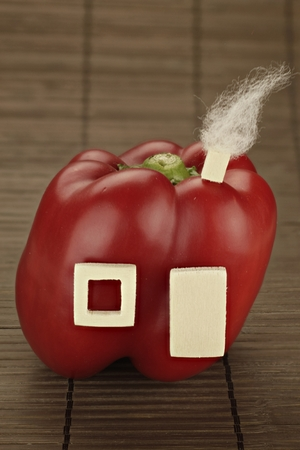 reside: Symbolic illustration of healthy living with red peppers