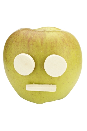 Apple Smiley with sad expression