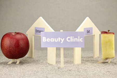 beauty surgery: Interesting symbolic representation before and after the beauty surgery