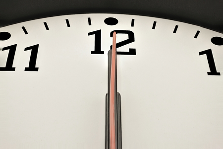 12 days of christmas: Clock shows point twelve or midnight