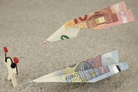 money notes: Flying money notes