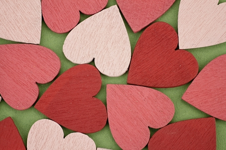 Background Consisting of many red and pink hearts
