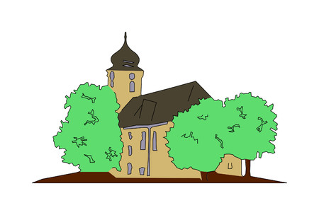 Church in southern Germany as vector graphics