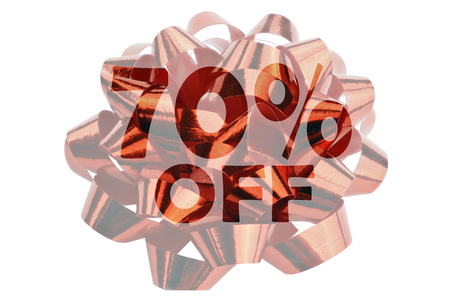 Discount 70% shown in the form of a red text 70% off