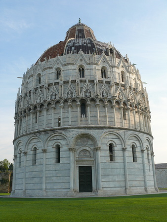 The Pisa Baptistery, The Square of Miracles in Pisa, Tuscany, Italy Stock Photo