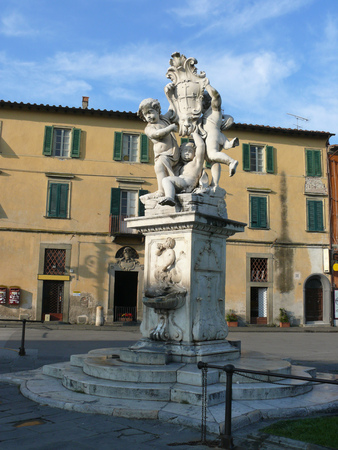 Statue in the square of Miracles in Pisa, Tuscany, Italy