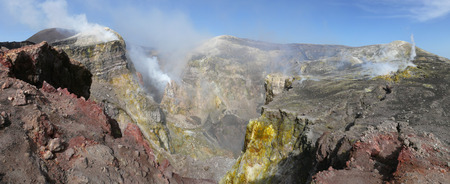 Craters of Etna, Colorful volcanic fields in mount Etna