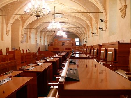 Prague, Czech Republic, February 02, 2018 Interier of the Senate of the Czech Republic in Prague Editorial