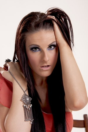 Brunette Fashion Model photo