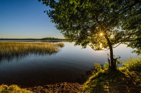 Mokre Lake on kayak route Krutynia, Poland