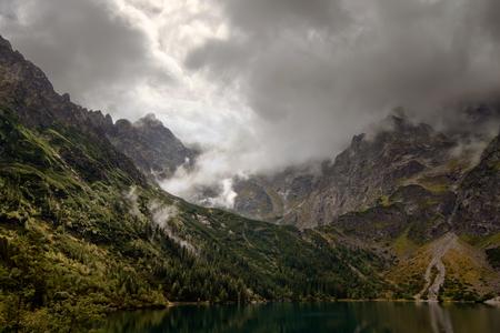 morskie: Morskie Oko Lake in Tatra mountains, Poland