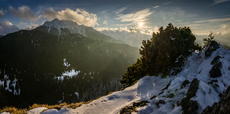 Velky Rozsutec in Mala Fatra mountains in winter, Slovakia Stock Photo