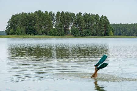 Island Of Love on Zyzdroj Lake and snorkeling on polish kayak route Krutynia, Poland