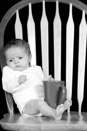 drank: A grumpy baby in the morning who has not drank there coffee yet.