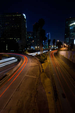 Decisions Decisions, what route to take?  A beautiful night shot of Los Angeles California. photo