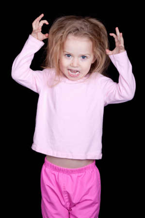 silliness: A child misbehaving and acting out.