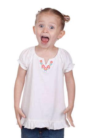 Ein Kind schreit heraus. Standard-Bild - 9373716