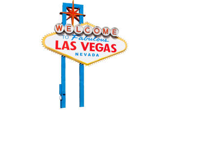 A nice isolation of the welcome to fabulous Las Vegas sign.