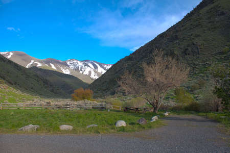 A luch image of a campground and beautiful landscape.