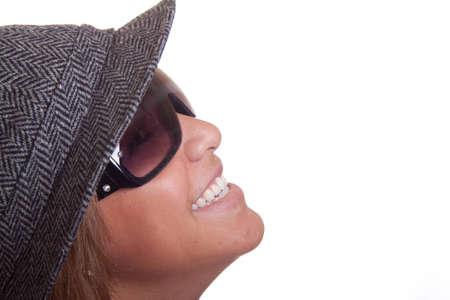 Close up Bild eines isolierten hispanische Mädchen lachend. Standard-Bild - 11006740