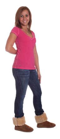 Ganzkörper-Isolierung eines hispanische Mädchen. Standard-Bild - 11006702