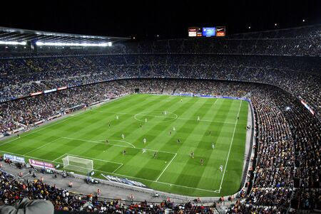 Nou Camp stadium During football match