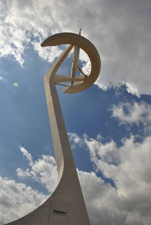 olympic: Olympic monument in Barcelona Editorial