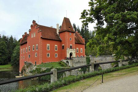 chateau: Chateau Cervena Lhota in south Bohemia near pond