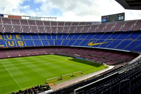 succes: View of the Grandstand of Camp Nou Stadium During stage tour
