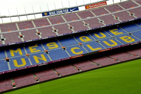 motto: More than a club - the motto of FC Barcelona club
