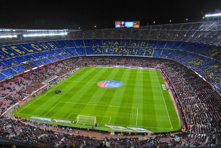 Camp Nou stadium before kick-off match FC Barcelona against Sevilla FC