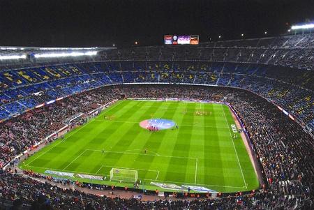 kickoff: Camp Nou stadium before kick-off match FC Barcelona against Sevilla FC