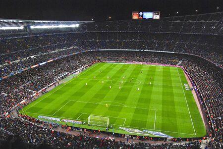 kickoff: Camp Nou stadium after kick-off match FC Barcelona against Sevilla FC