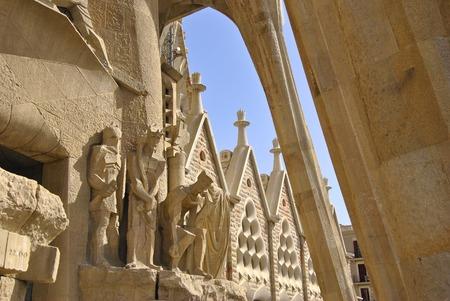 sacra famiglia: Parte della Passione facciata della Basilica e chiesa espiatorio della Sacra Famiglia