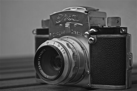 analog camera: Old vintage analog camera