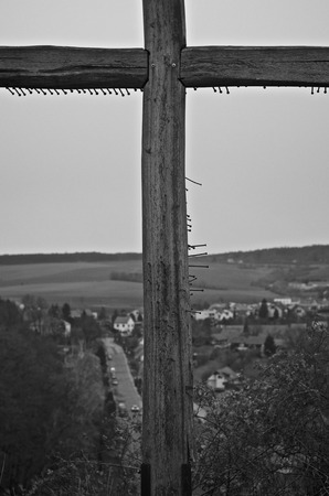 Cross at the top of the hill