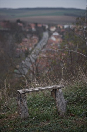 Bench on the hill