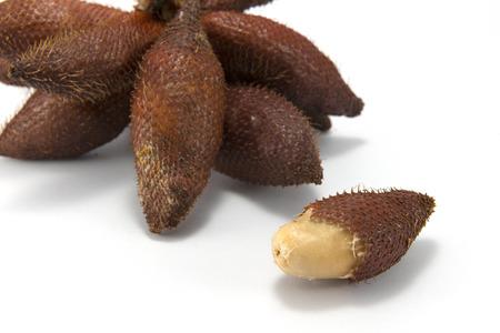 salak: Salak fruit, Salacca zalacca isolated on white background.