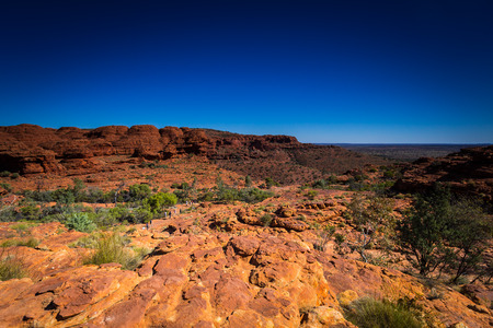 tjuta: Australias outback Kings Canyon landscape view in northern territory. Stock Photo