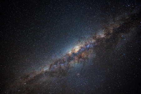the outback: Clearly milky way found in Australias outback Stock Photo