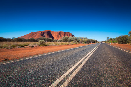Australia's outback landscape view in northern territory.
