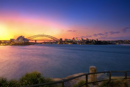 Sydney, Australia view at sunset