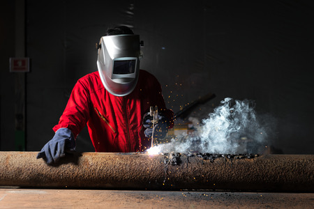 Welding work, welding process, industry scene