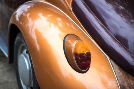 luxery: Details of Vintage car rear part