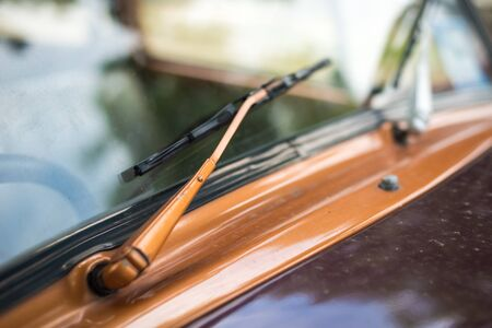 outside machines: Details of vintage car wiper